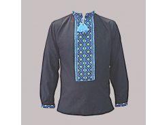 Рубашка Украинская вышиванка 1767 цвет черный размер XL