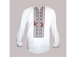 Рубашка Украинская вышиванка 493 цвет белый размер L