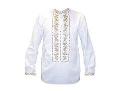 Рубашка Украинская вышиванка 494 цвет белый размер XL/XXL