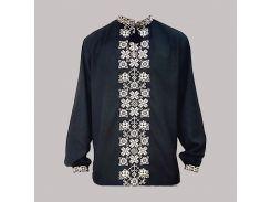Рубашка Украинская вышиванка 1856 цвет черный размер XS/S