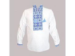 Рубашка Украинская вышиванка 574 цвет белый размер XXL