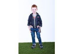 Джинсы для мальчика с подтяжками 225TEMNO SINIY р. 122 см Темно-синий