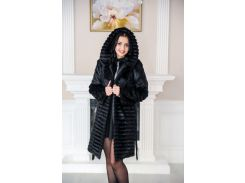 Женская шуба BG-Furs из меха стриженой нутрии 48 Черная (Р-М-16-Ч-30-2/3)