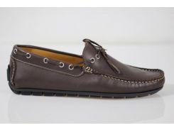 Мокасины мужские Made in Italy 5009 42 р 28 см темно-коричневый 5012