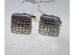 Запонки серебряные Бойко Aligator с чернением (0275.10)