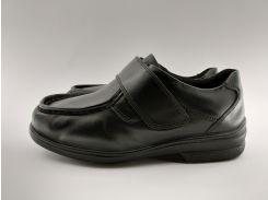 Мокасини чоловічі шкіряні на широку ногу Cosyfeet 38 р. 25 см чорні арт. 01