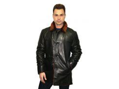 Мужская дубленка Oscar Fur 329 Черный рыжевато-коричневый