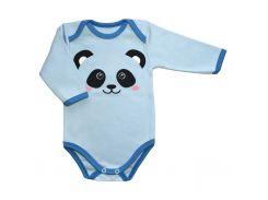 Боди TrikoLand 6131-632 68 см Голубой с пандой