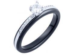 Серебряное кольцо SilverBreeze с керамикой  18 размер