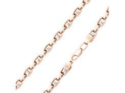 Золотой браслет Миллениум в комбинированном цвете фантазийного плетения 000101554 19 размера
