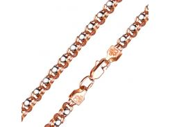 Браслет из красного и белого золота Рианна 000101597 19.5 размера