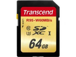 Карта памяти TRANSCEND SDXC 64 GB UHS-I Ultimate U3 (R95, W60MB/s)