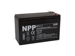 Аккумуляторная батарея NPP 12V 7.5 AH (NP12-7.5) AGM,T1