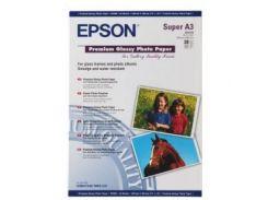 Фотобумага EPSON Premium Glossy Photo Paper, глянцевая, 255 g/m2, A3, 20л (S041316)