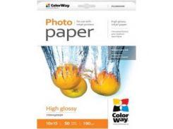 Бумага ColorWay глянцевая 180 г/м, 10x1 PG180-50 картонная упаковка
