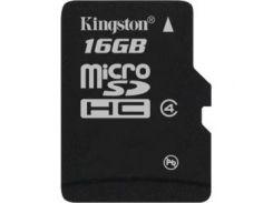 Карта памяти KINGSTON microSDHC 16 GB