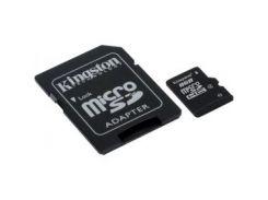 Карта памяти KINGSTON microSDHC 8 GB Class 4 с SD адаптером