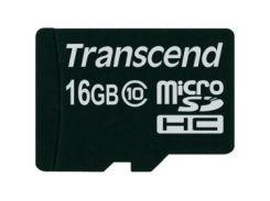 Карта памяти TRANSCEND microSDHC 16 GB Class 10 без адаптера