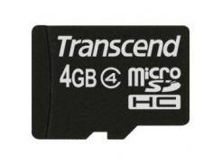 Карта памяти TRANSCEND microSDHC 4 GB Class 4 без адаптера