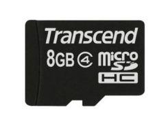 Карта памяти TRANSCEND microSDHC 8 GB Class 4 без адаптера