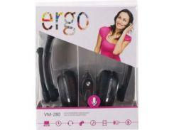 Гарнитура ERGO VM-280 Black (5957722)