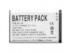 Аккумуляторная батарея PowerPlant Nokia BL-6C (6019, 6255, E50, E70, N-Gage QD) (DV00DV6029)