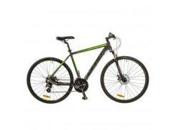 "Велосипед Leon 28"" HD-85 2017 AM14G Vbr 19"" Al серо-зеленый (OPS-LN-28-005)"