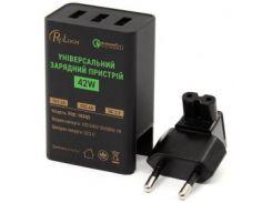 Сетевое зарядное устройство ProLogix PQC-103Q2 Черный 42W 2*5V2.4A+QC2(15V1.2A/12V1.5A/9V2A/5V2A)