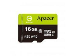 Карта памяти Apacer 16GB microSDHC UHS-I (95/45) Class10 w/0 Adapter RP (AP16GMCSH10U3-R)