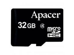 Карта памяти Apacer microSDHC Class4 32GB w/o Adapter RP (AP32GMCSH4-RA)