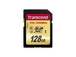 Карта памяти Transcend SDXC 128 GB Class 10 UHS-I U3 (TS128GSDU3)