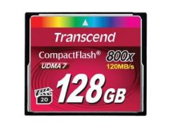 Карта памяти TRANSCEND Compact Flash 128 GB (800X)