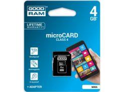 Карта памяти Goodram microSDHC 4GB Class 4 + adapter