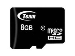 Карта памяти MicroSDHC  8GB Class 10 Team + SD-adapter (TUSDH8GCL1003)