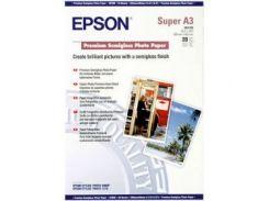 Фотобумага EPSON Premium Semiglossy Photo Paper,полуглянцевая,251g/m2, A3, 20л (C13S041328)