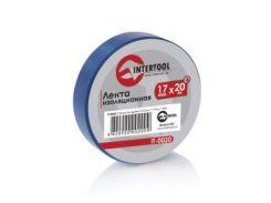 Лента изоляционная 0.15ммx17ммx20м синяя (упак 10 шт) INTERTOOL IT-0020