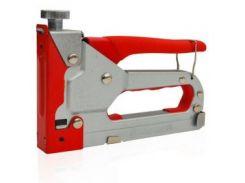 Механический скобозабивной пистолет под скобу обрезиненная рукоятка INTERTOOL RT-0102
