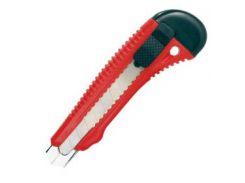 Нож прорезной усиленный с отломным лезвием-18мм INTERTOOL HT-0501