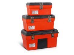 Комплект ящиков для инструментов с металлическим замком, 3шт INTERTOOL BX-0006