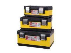 Комплект ящиков для инструментов с металлическими замками, 3шт INTERTOOL BX-2003