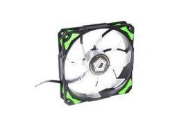 Вентилятор ID-Cooling PL-12025-G, 120x120x25мм, 4-pin PWM, черный с зеленым