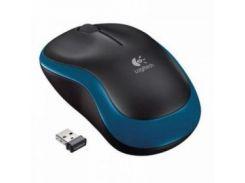 Мышь беспроводная Logitech M185 (910-002236) Blue USB