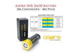 Высокотоковый аккумулятор Aspire INR 26650 4300mAh 40A Flat Top