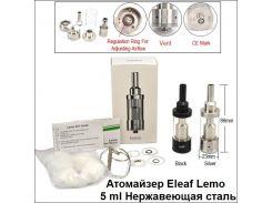 Атомайзер Eleaf Lemo (5 ml) Нержавеющая сталь (Оригинал)