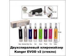 Двухспиралевый клиромайзер Kanger EVOD v2 (стекло)