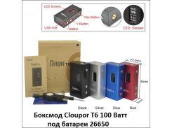 Боксмод Cloupor T6 100 Ватт под батареи 26650