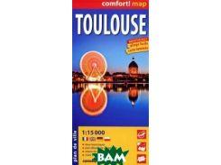 Toulouse / Тулуза. Ламинированная карта