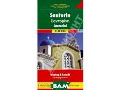 Santorini: Road and Leisure Map