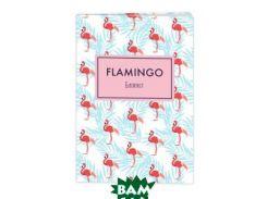 Блокнот. Mindfulness. Фламинго (формат А5, на скобе, фламинго на белом)