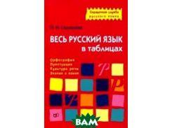 Весь русский язык в таблицах. Орфография, пунктуация, культура речи, знание о языке. Учебно-справочное пособие